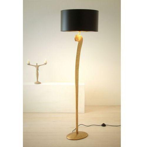 Holländer lino lampa stojąca złoty, 1-punktowy - klasyczny - obszar wewnętrzny - lino - czas dostawy: od 8-12 dni roboczych (4250151319599)