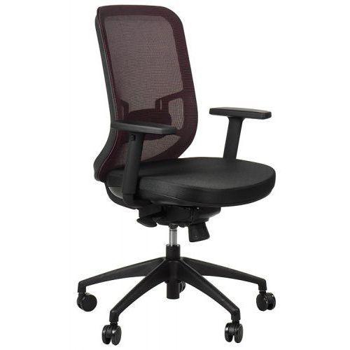 Krzesło obrotowe biurowe GN-310/BORDO z wysuwem siedziska, GN-310/BLACK/CLARET