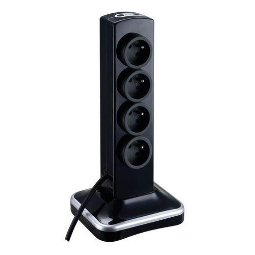 Przedłużacz Masterplug 8 x 16 A 3 x 1,5 2 x USB 2 m czarny