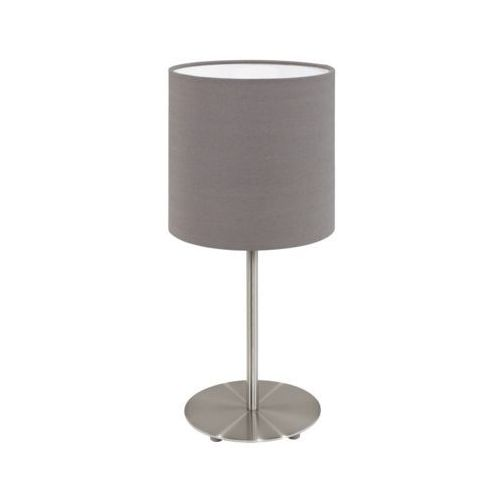 Lampka stołowa Eglo Pasteri 31597 z abażurem 1x60W E27 antracyt/brąz (9002759315979)