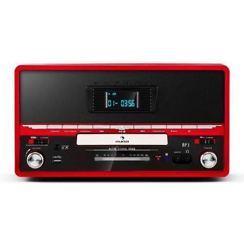 Auna RTT 1922 zestaw stereo w stylu retro MP3 CD USB UKF AUX nagrywanie czerwony, kup u jednego z partnerów