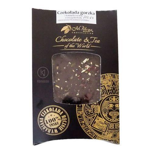 M.pelczar chocolatier Gorzka czekolada z karmelizowną herbatą owocową i kwiatami jaśminu