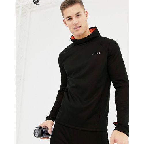 ASOS 4505 hoodie with bonded tech inner fleece with thumbholes - Black