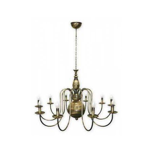 Lemir Kandelabr 19_10 MAX lampa wisząca zwis 10x60W E14 patyna