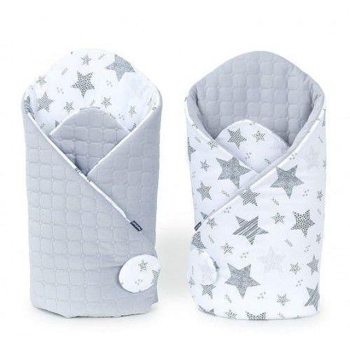 Rożek niemowlęcy dwustronny velvet - Starmix Szary - Jasny Szary