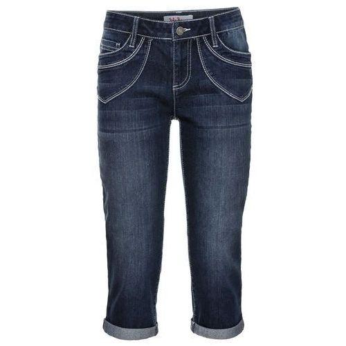 Rybaczki dżinsowe ze stretchem ciemnoniebieski marki Bonprix