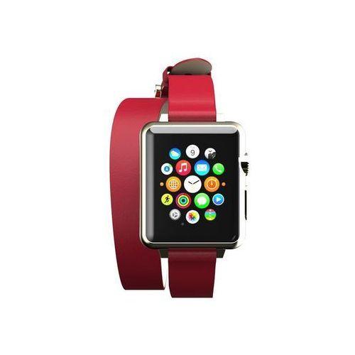 reese double wrap - skórzany pasek do apple watch 38mm (czerwony) marki Incipio