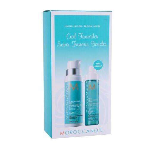 Moroccanoil curl favorites zestaw krem do włosów kręconych curl defining cream 250 ml + sprej do włosów curl re-energizing spray 160 ml dla kobiet
