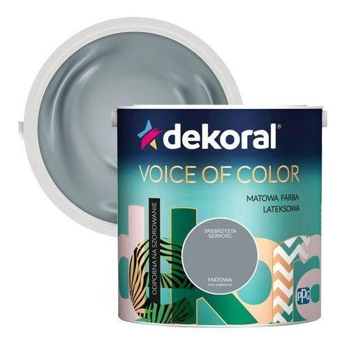 Farba Dekoral Voice of Color srebrzysta szarość 2,5 l, kolor czerwony