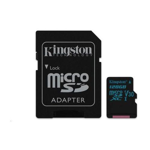 Kingston karta pamięci 128gb canvas go! micro sdxc uhs-i u3 +adapter sd (sdcg2/128gb)