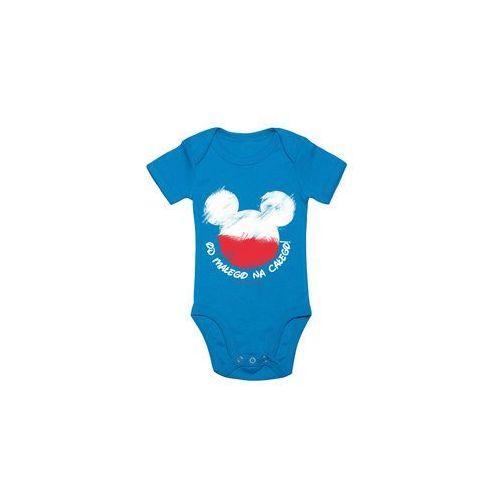 Body dziecięce Myszka, kolor niebieski