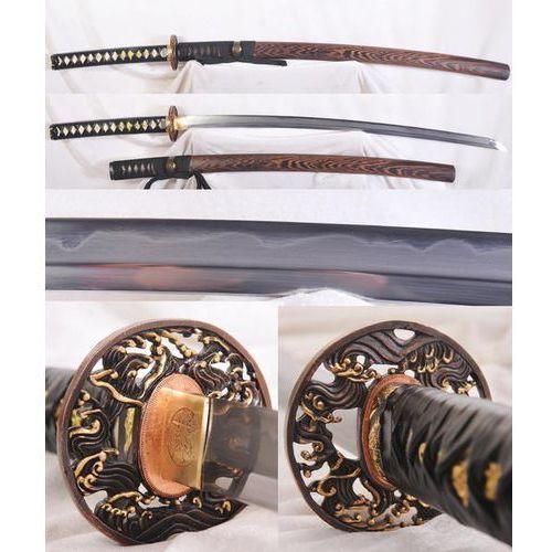 Katana japońska shihozume 1095 oraz damast hartowana glinką r1146 marki Kuźnia mieczy samurajskich