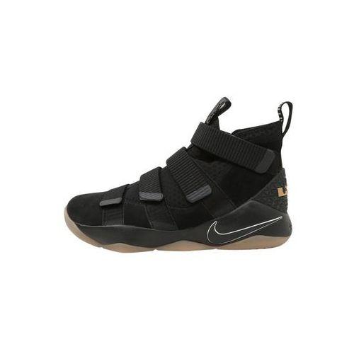 Nike Performance LEBRON SOLDIER XI Obuwie do koszykówki black/black gum light/brown, 897644