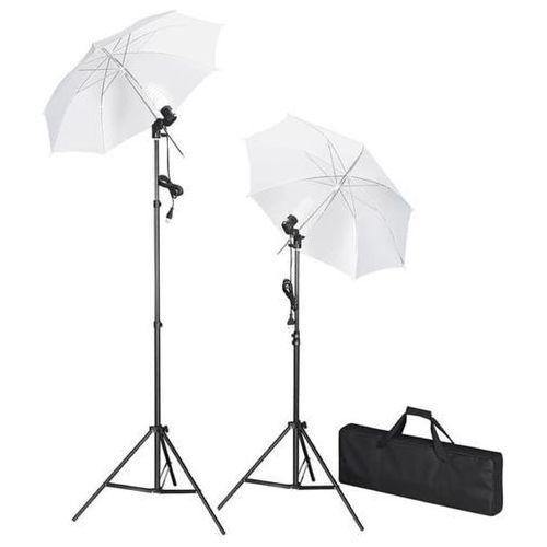 vidaXL Zestaw oświetleniowy do studio ze statywami i parasolkami