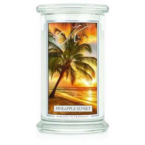 PINEAPPLE SUNSET świeca zapachowa Kringle Candle SOCZYSTY ANANAS Duży słoik 22oz, 623g, 2 knoty