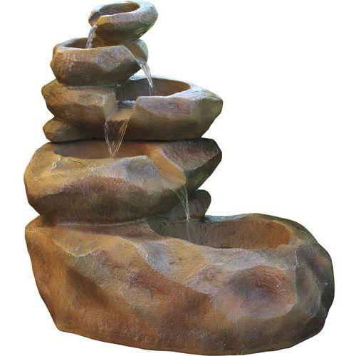 Kaskada fontanna ogrodowa larysa ogród led pompa marki Reflux