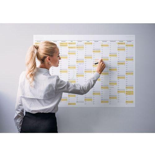 Planer na ścianę 2018 papierowy suchościeralny 84x59 A1