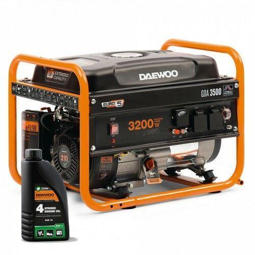 Agregat prądotwórczy gda 3500 3,2kw avr 7,5km + gratis marki Daewoo