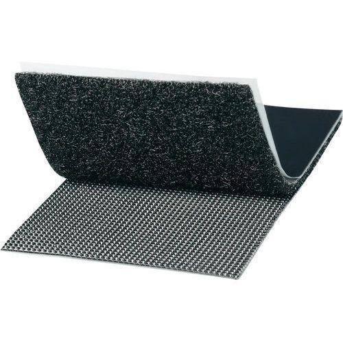 Taśma rzepowa Do przyklejenia element z pętelkami i haczykami, Bardzo wytrzymały (DxS) 100 mm x 50 mm czarny TOOLCRAFT KL50X100SC 1 par(a), KL50X100SC