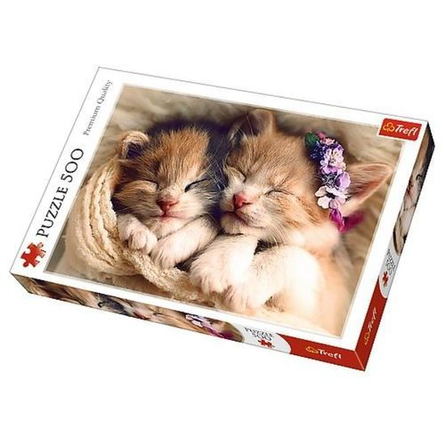 Puzzle 500el Śpiące kotki 37271 Trefl (37271 TREFL) (5900511372717)