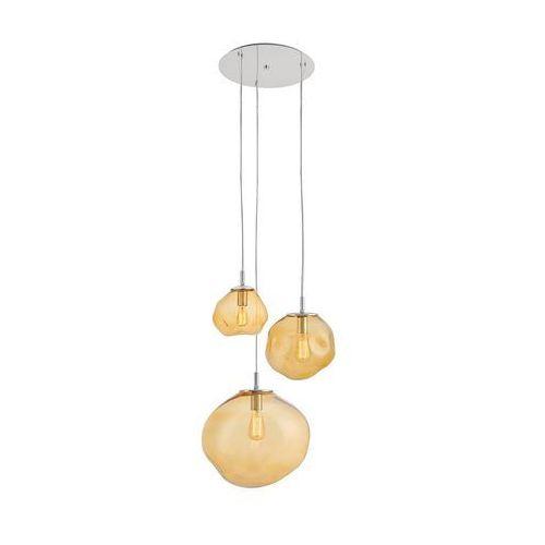 Kaspa - lampa wisząca avia - potrójna - pomarańczowa