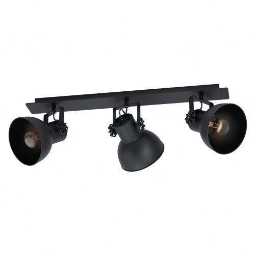 43433 barnstaple 1 spot drewno, stal czarny / stal czarny plafon lampa sufitowa vintage loft marki Eglo