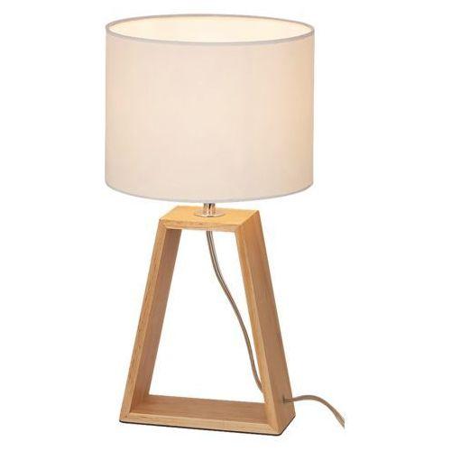 Rabalux 4378 freya lampa biurkowa drewniana abażur
