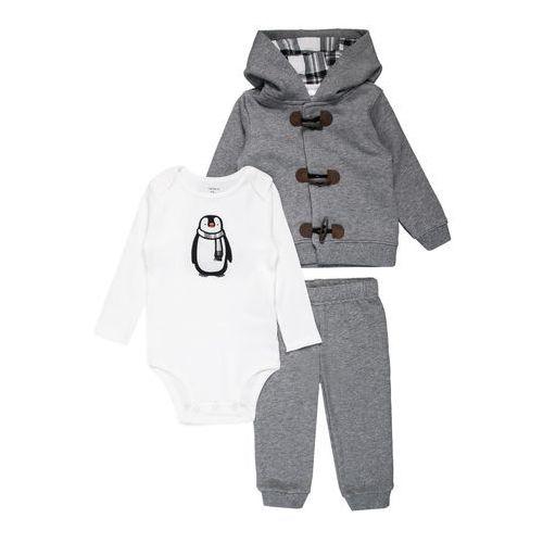 Carter's BOY HOOD PANT PENGUIN BABY SET Body heather (0190795798203)