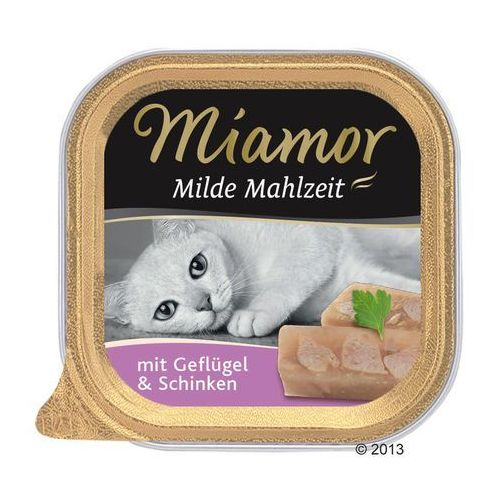 MIAMOR Milde Mahlzeit - konserwa mięsna smak: kura z łososiem 16x100g, 3132 (1950637)