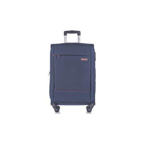 walizka średnia em50720 z kolekcji parma 4 koła materiał poliester zamek szyfrowy możliwość poszerzenia marki Puccini