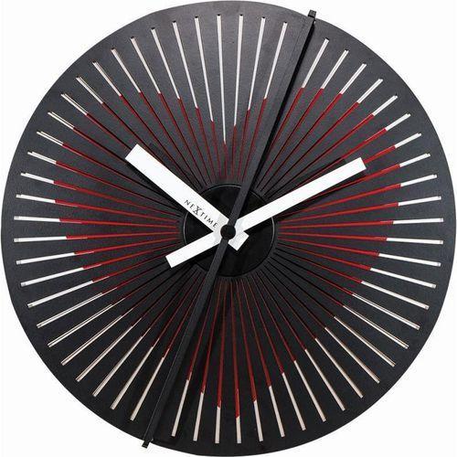 NeXtime - Zegar ścienny Kinegram Heart - czerwony, kolor czerwony