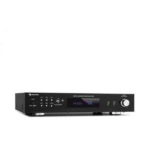 Auna amp-9200 bt, cyfrowy wzmacniacz stereo, 2 x 60 w rms, bluetooth, 2 x mikrofon, czarny (4060656224294)