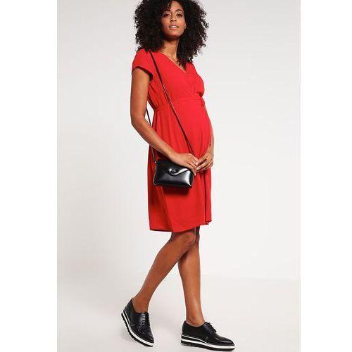 MAMALICIOUS MLLISBETH Sukienka letnia pompeian red - produkt z kategorii- Sukienki ciążowe
