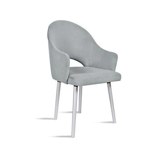 Krzesło bari jasny szary/ noga silver/ ja81 marki B&d