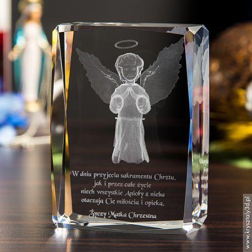 Aniołek Stróż 3D z Twoją dedykacją • GRAWER GRATIS