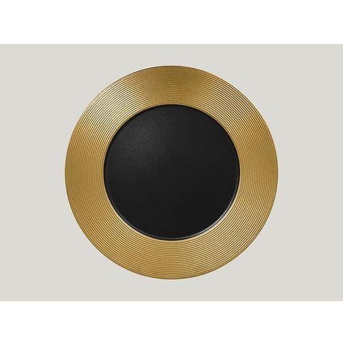Rak Talerz płaski tłoczony 330 mm, złoty | , metalfusion