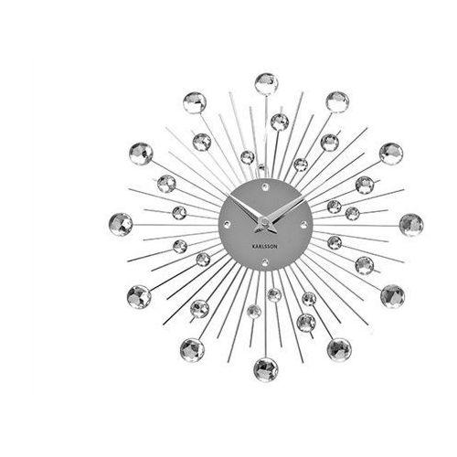 Zegar ścienny Sunburst Crystal by Karlsson, kolor żółty