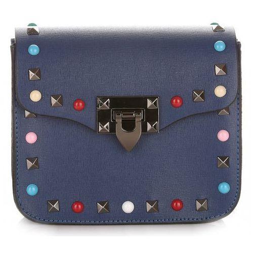 be63949c761a6 Moden torebki listonoszki skórzane made in italy z kolorowym paskiem  niebieska (kolory) marki Vera