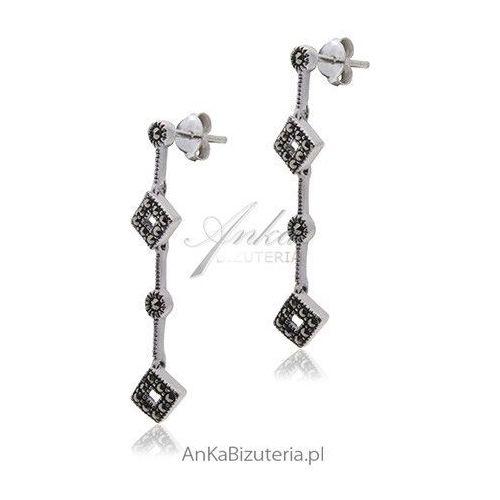 Srebrne kolczyki markazyty marki Anka biżuteria