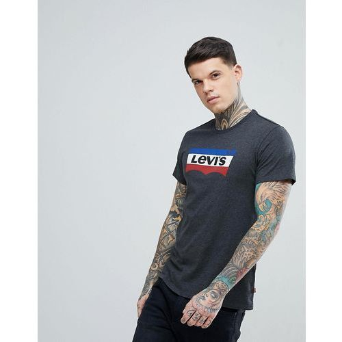 Levi's Stripe Batwing T-Shirt in Black - Black, kolor czarny