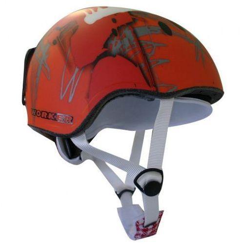 Kask snowboardowy WORKER Flux - Kolor Czerwona grafika, Rozmiar S (50-54)
