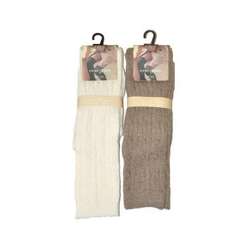Zakolanówki warkocz art.44006 damskie 39-42, biały, wik marki Wik