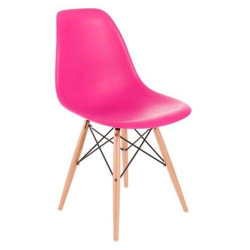Krzesło p016w pp inspirowane dsw - różowy ciemny marki D2.design
