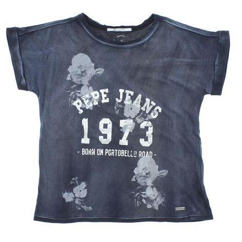 Pepe jeans  t-shirt dziecięcy niebieski szary 8 lat