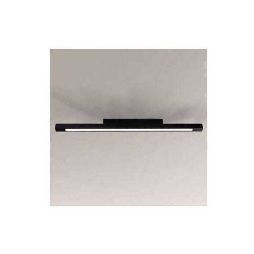 Natynkowa lampa sufitowa otaru 8040/g5/cz łazienkowa oprawa minimalistyczna listwa ip44 czarna marki Shilo