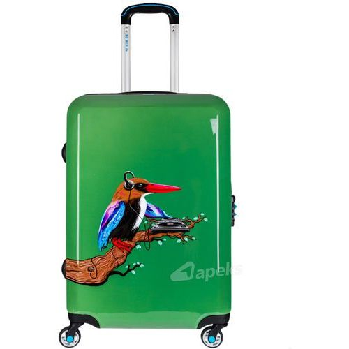 urbe średnia walizka na 4 kółkach / 67 cm / tropical sound - zielony marki Bg berlin