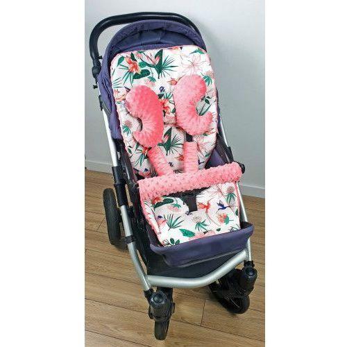 Wkładka do wózka, ochraniacze na pasy i pałąk + motylek koliberki marki Bubaland