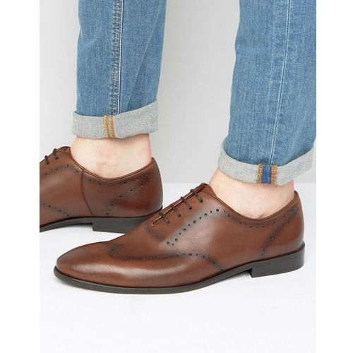 New Look Leather Brogue Shoes In Brown - Brown