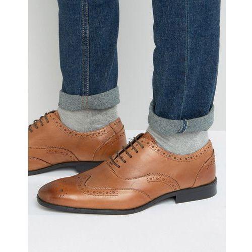Silver street oxford brogues in tan leather - tan