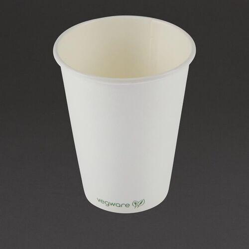 Vegware Kubki do kawy kompostowalne z pojedynczą ścianką 340ml / 12oz (1000 sztuk)
